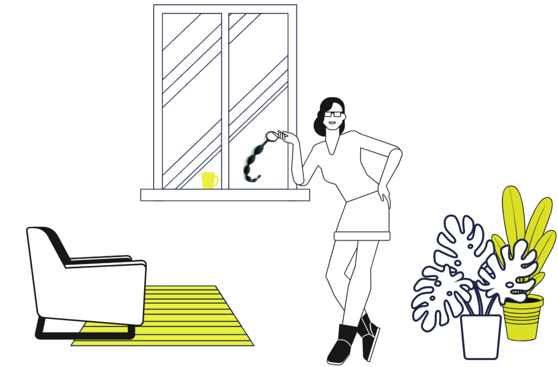 ilustratie bile anale si fata la fereastra